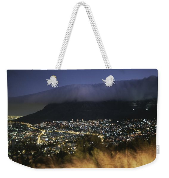 An Elevated View Of Cape Town And Table Weekender Tote Bag