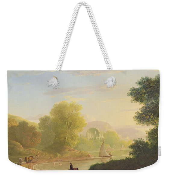 An Imaginary Coast Scene - With The Temple Of Venus At Baiae Weekender Tote Bag
