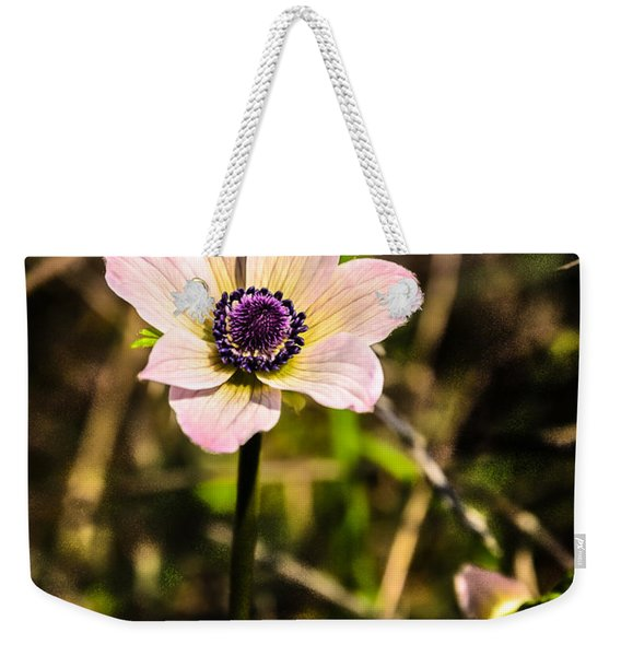 Weekender Tote Bag featuring the photograph Anemon by Michael Goyberg