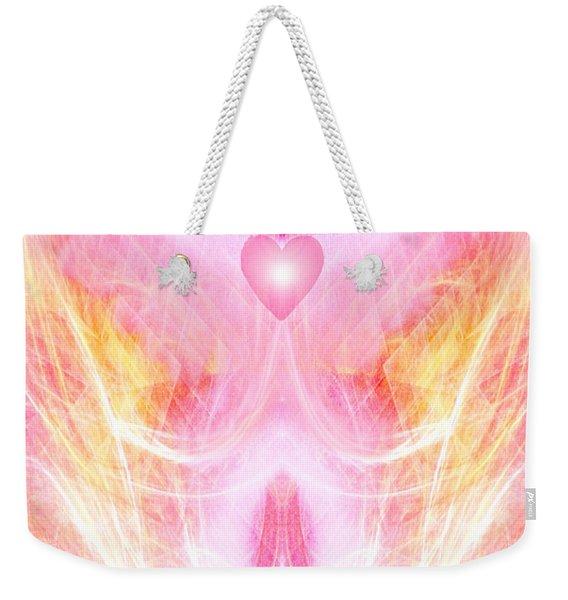 Angel Of Divine Love Weekender Tote Bag