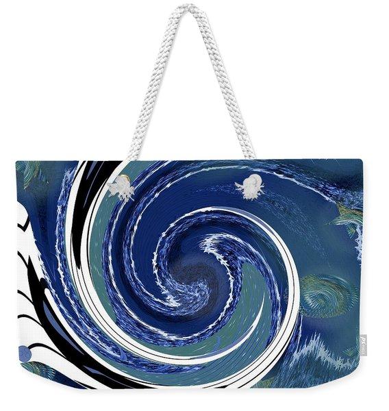 Angry Ocean Weekender Tote Bag