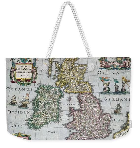 Antique Map Of Britain Weekender Tote Bag