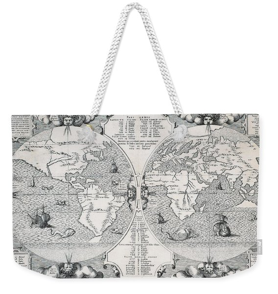 Antique World Map Weekender Tote Bag