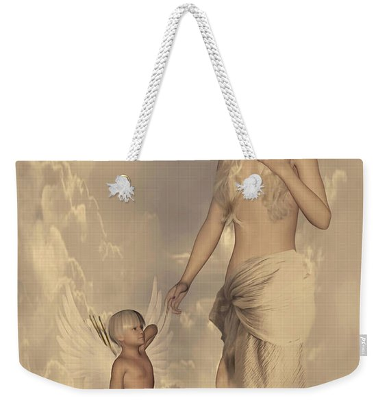 Aphrodite And Eros Weekender Tote Bag