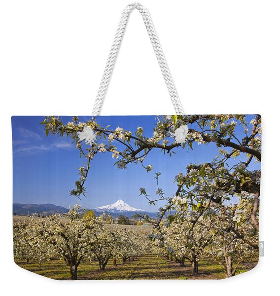 Apple Blossom Trees In Hood River Weekender Tote Bag