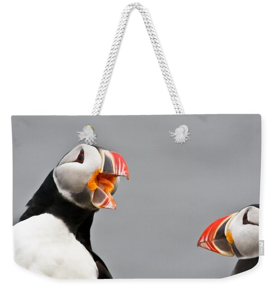 Are You Listening To Me Weekender Tote Bag
