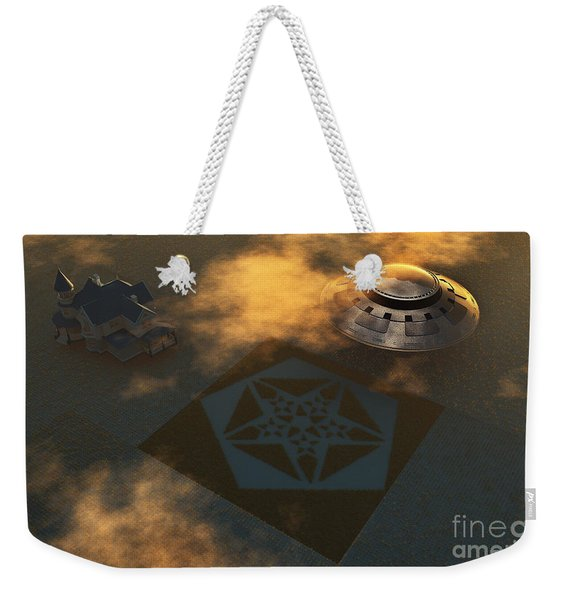Artists Concept Of Crop Circles Made Weekender Tote Bag