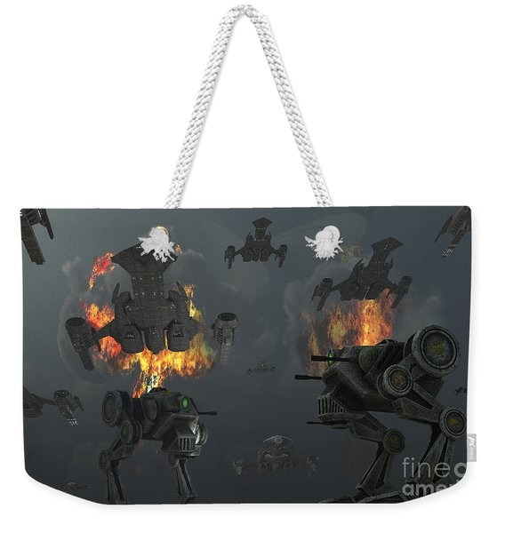 Artists Concept Of Futuristic Weapons Weekender Tote Bag