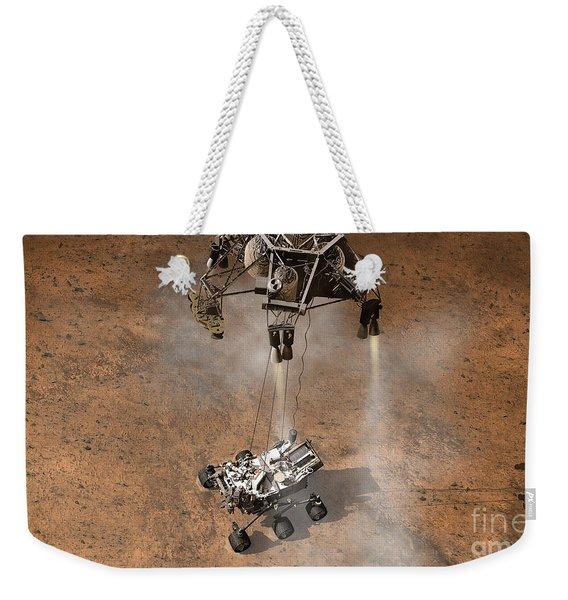 Artists Concept Of Nasas Curiosity Weekender Tote Bag