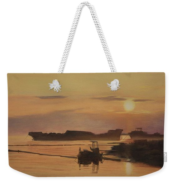 At The End Of It's Day Weekender Tote Bag