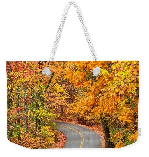 Autumn Drive Signal Mountain Weekender Tote Bag
