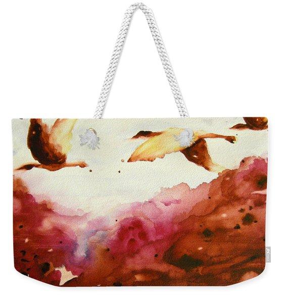 Autumn Flight Weekender Tote Bag