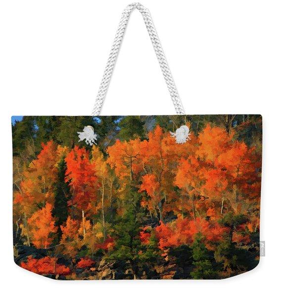 Autumn Water Colors  Weekender Tote Bag