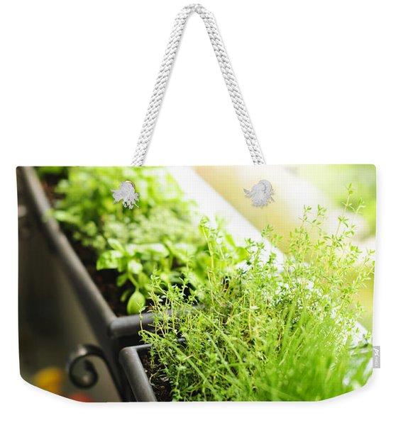 Balcony Herb Garden Weekender Tote Bag