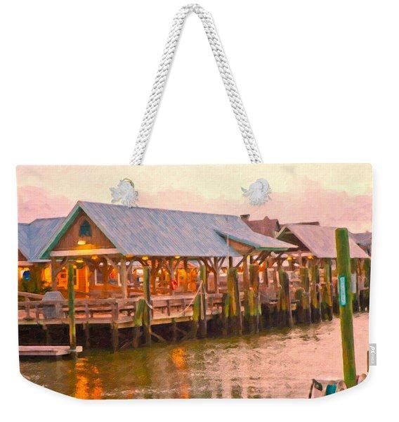Bald Head Island Marina Weekender Tote Bag