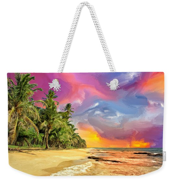 Bali Beach Sunset Weekender Tote Bag