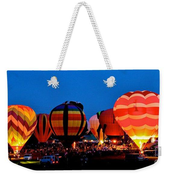 Balloon Glow Weekender Tote Bag