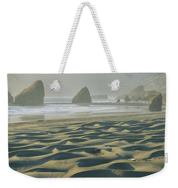 Beach With Dunes And Seastack Rocks Weekender Tote Bag