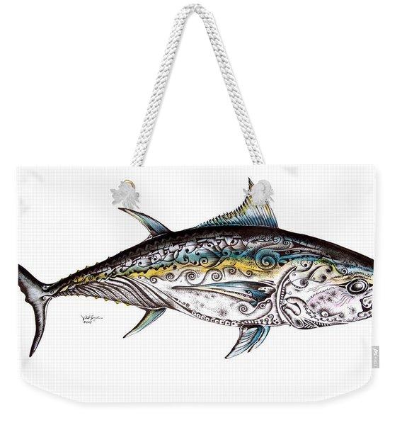 Beautiful Blue Fin Weekender Tote Bag