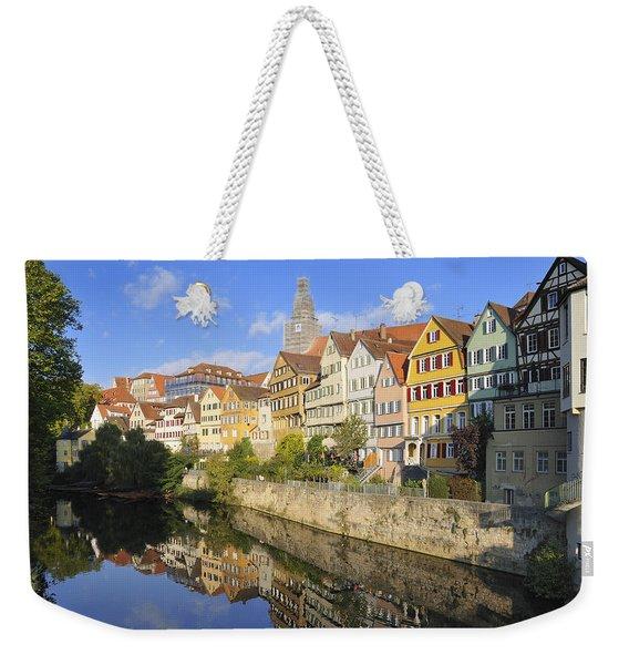 Beautiful German Town Tuebingen - Neckar Waterfront Weekender Tote Bag