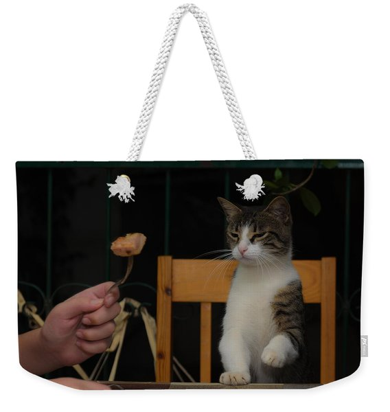 Before The Attack Weekender Tote Bag
