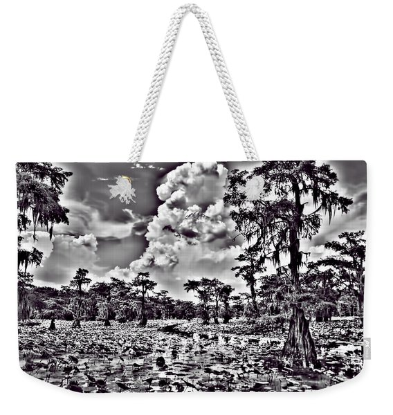 Before The Storm Black And White Weekender Tote Bag