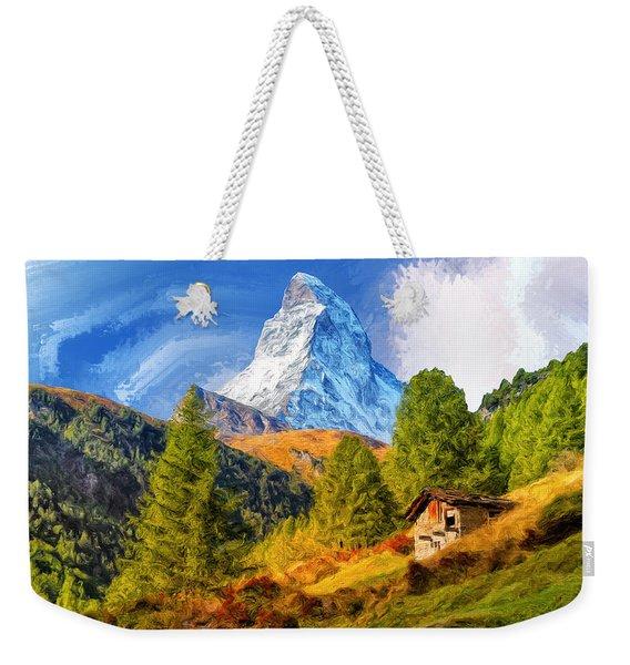 Below The Matterhorn Weekender Tote Bag