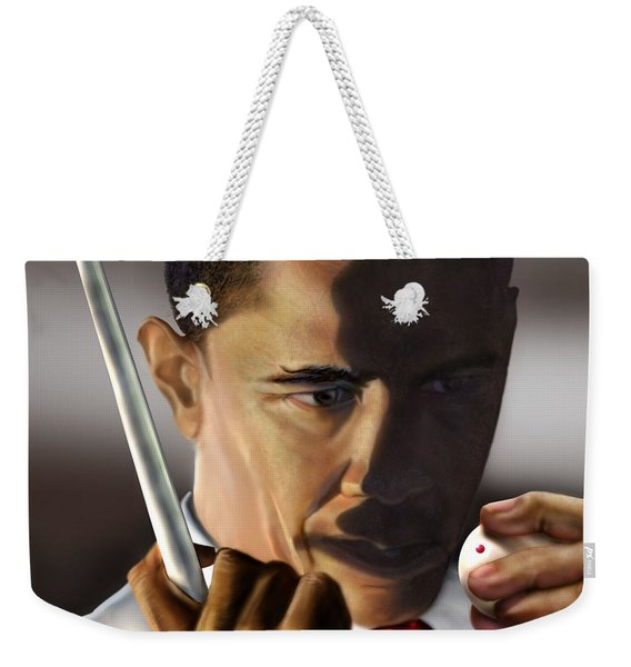 Obama Beyond Shark Waters Weekender Tote Bag