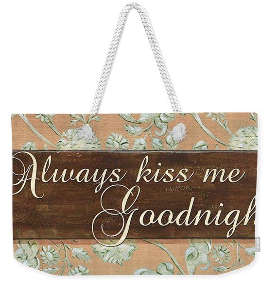 Bienvenue Kiss Weekender Tote Bag