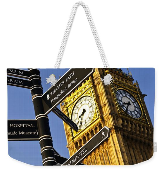 Big Ben Clock Tower Weekender Tote Bag
