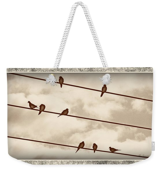 Birds On Wires Weekender Tote Bag