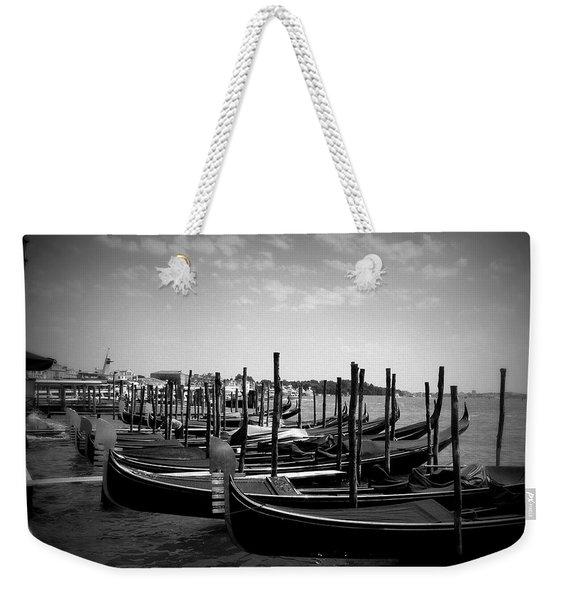 Black And White Gondolas Weekender Tote Bag