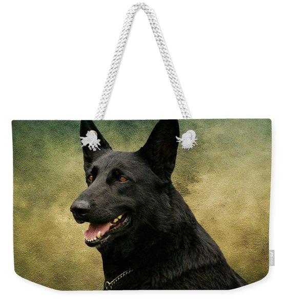 Black German Shepherd Dog IIi Weekender Tote Bag