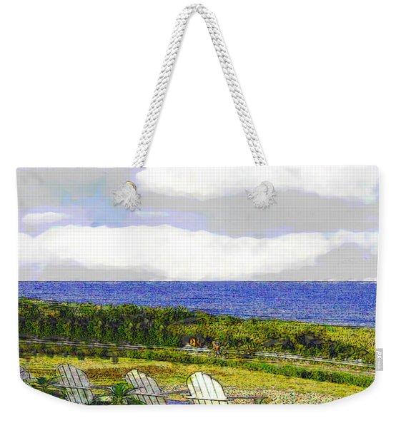 Block Island Sea Chairs Weekender Tote Bag