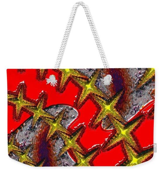 Blood On The Wire Weekender Tote Bag