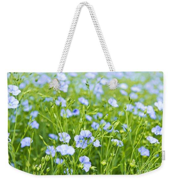 Blooming Flax Weekender Tote Bag
