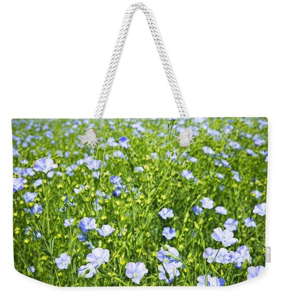 Blooming Flax Field Weekender Tote Bag