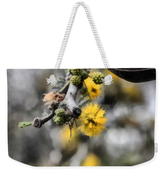 Weekender Tote Bag featuring the photograph Blossoming Tree by Michael Goyberg