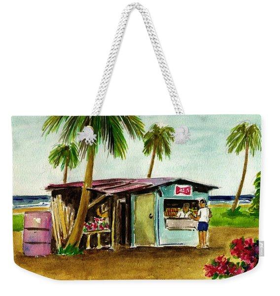 Blue Beach Shack Los Pinones Puerto Rico Weekender Tote Bag