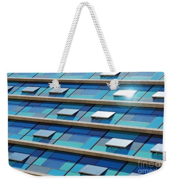 Blue Facade Weekender Tote Bag