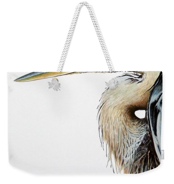 Blue Heron Study Weekender Tote Bag