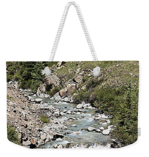 Blue Mountain Stream Weekender Tote Bag