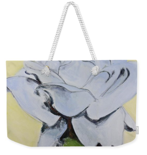 Weekender Tote Bag featuring the painting Blue Rose-3-posthumously Presented Paintings Of Sachi Spohn  by Cliff Spohn