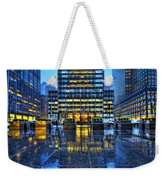 Blue York Weekender Tote Bag