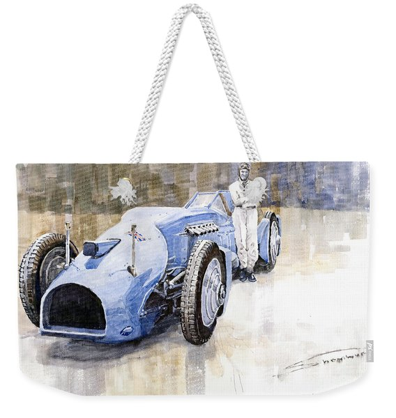 Bluebird 1933 Daytona Malkolm Campbell Weekender Tote Bag