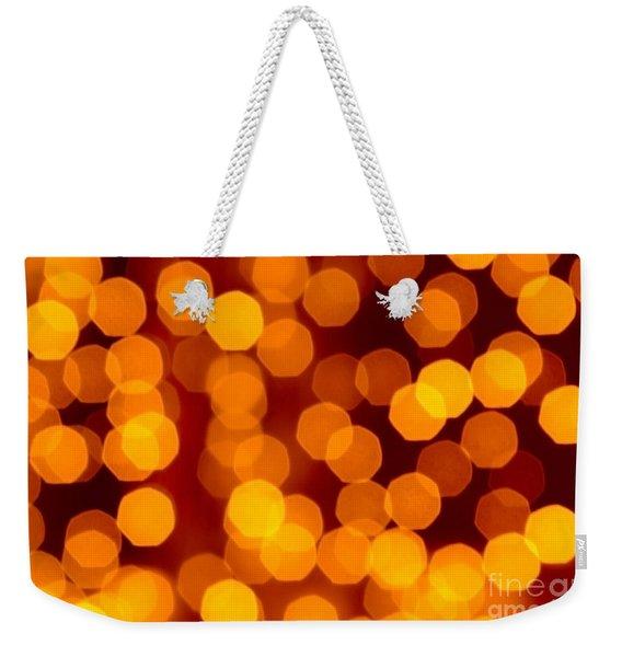 Blurred Christmas Lights Weekender Tote Bag