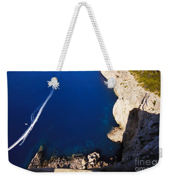 Boat In The Sea Weekender Tote Bag