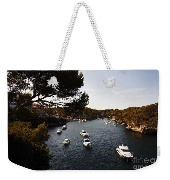 Boats In Cala Figuera Weekender Tote Bag