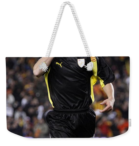 Bojan Krkic Celebrating A Goal 2 Weekender Tote Bag