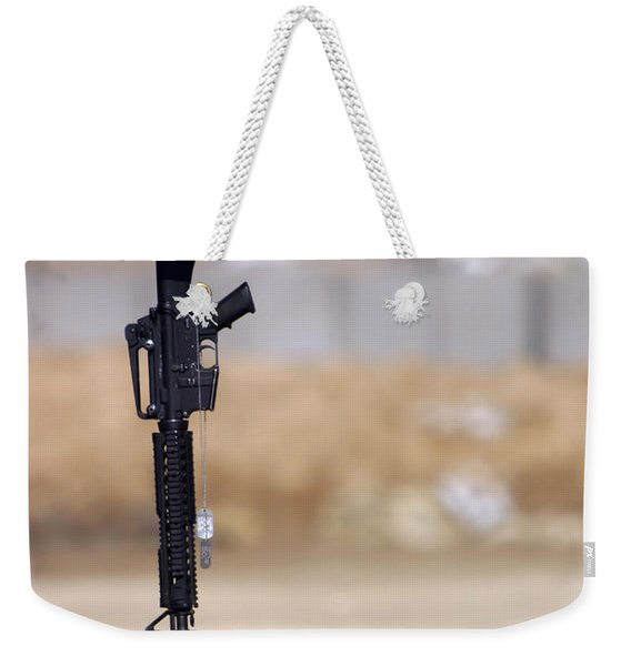 Boots, Rifle, Dog Tags, And Protective Weekender Tote Bag
